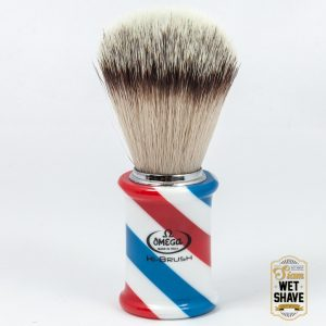 thailand wet shave man of siam manofsiam bangkok safety razor derazor blade shaving brush แปรงโกนหนวด มีดโกน โกนหนวดOmega Barber Pole 0146735 Shaving Brush