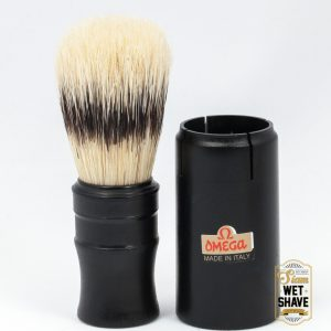 thailand wet shave man of siam manofsiam bangkok safety razor derazor blade shaving brush แปรงโกนหนวด มีดโกน โกนหนวดOmega 50014 Travel Shaving Brush