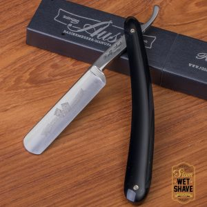 thailand wet shave man of siam manofsiam bangkok safety razor derazor blade shaving brush แปรงโกนหนวด มีดโกน โกนหนวด มีดโกนพับ บาร์เบอร์ muhle Merkur Safety Parker Ralf Aust 5/8 Black Synthetics