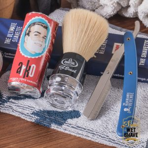 thailand wet shave man of siam manofsiam bangkok safety razor derazor blade shaving brush แปรงโกนหนวด มีดโกน โกนหนวด มีดโกนพับ บาร์เบอร์ muhle Merkur Safety Basic upgrade Barber Shavette Set