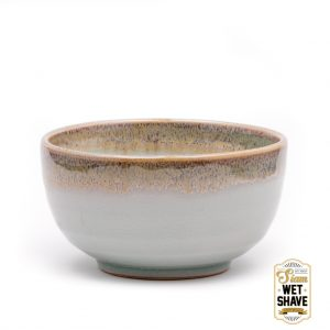 light grey lather shaving bowl